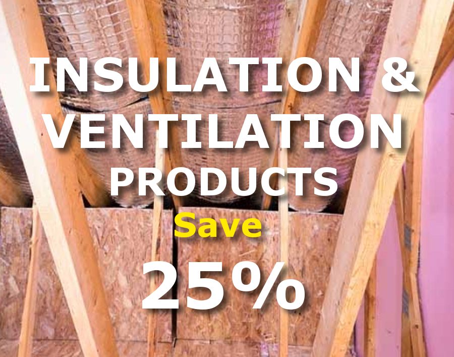 Check out our Spring Sale Insulation & Ventilation Specials