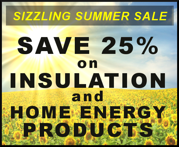 Check out our Sizzling Summer Sale Insulation & Ventilation Specials