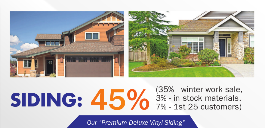 Save up to 45% on Siding & Home Eteriors
